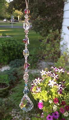 Healing Crystal Heart Suncatcher/Prism W/Swarovski Elements French Drop USA