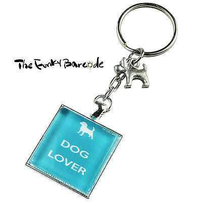 TFB - DOG LOVER KEYRING Chain Gift Cute Puppy Pet Bag Animal Woof Paw Friend Fun