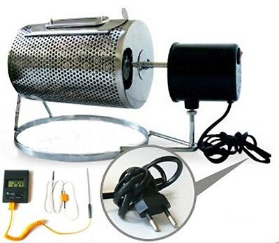 Home Kitchen Coffee Roaster Machine Stainless Steel with Probe Thermometer 220V