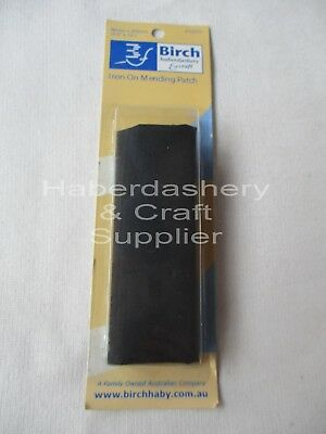 Iron On Fabric Repair Mending Patch*black*90Mmx255Mm