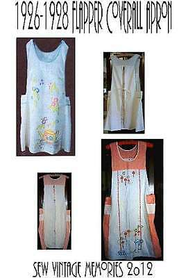 New Pellon Easy Pattern Copy Vintage 20's Style Flapper Yoked Coverall Apron