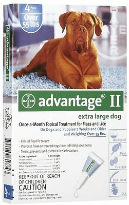 Bayer Advantage II, Extra Large Dogs, Over 55-Pound, 4-Month