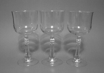 Cristal D'Arques Crystal CRA37 Clear Wine Glass Glasses Set of 3
