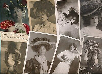 ACTRESSES Theatre Stage Music Hall Collection 70+ c1900s PPCs