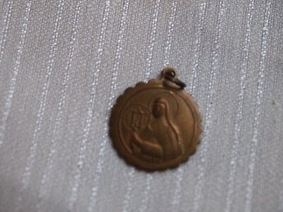Antique Metal Medal St Clara Clare
