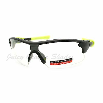 Clear Lens Safety Protection Eyewear Sports Half Rim Glasses