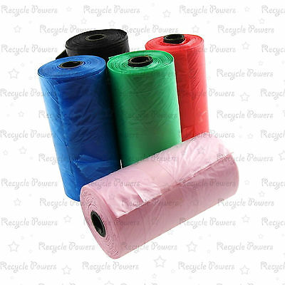 bag Doggie Poo Eco Friendly Green Dog Poop Scoop portable waste roll LOT