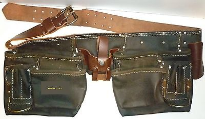 Tool & Nail Leather Apron Twin Bag Heavy Duty With Plenty Of Pockets- Brand New.