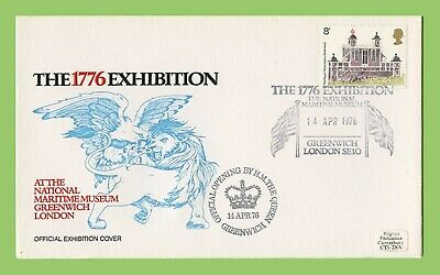 GB 1976 Commemorative Cover Special Cancel 1776 Exhibition Greenwich