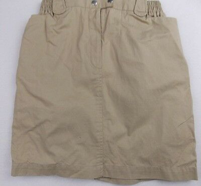new fits 8y QUINCY girls designer beige cotton smart or casual skirt NWT £41