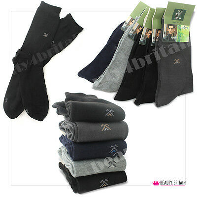 30 Pairs Bamboo Men Socks Wholesale Bamboo 75% Cotton 20% 2 Sizes Classic Colour
