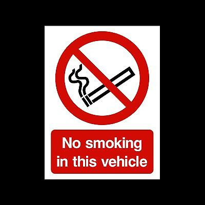 No Smoking in this vehicle - Sticker - All Sizes/Materials - (MISC74)