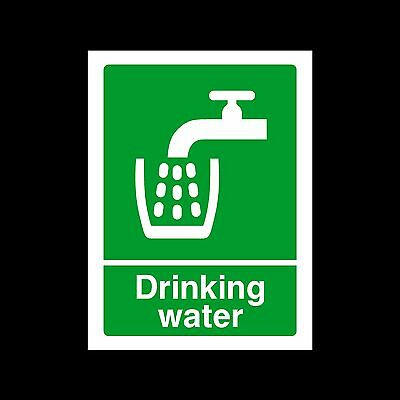 Drinking Water - Plastic Sign or Sticker - All Sizes/Materials - (HS5)