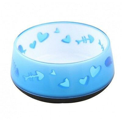 All for Paws Non Slip Cat Bowl Blue Fish Design 300ml