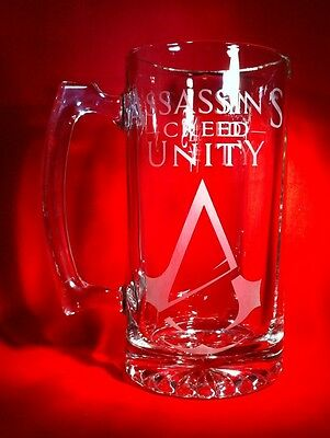 Assassin's Creed Unity Etched Beer Stein-PS4-PS3-XBOX ONE-PC-xbox360