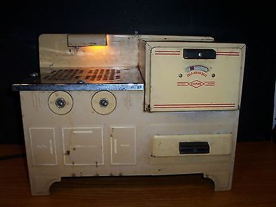 Post Depression Era EMPIRE ELECTRIC STOVE & OVEN Pullout Drawer CHILD'S TOY