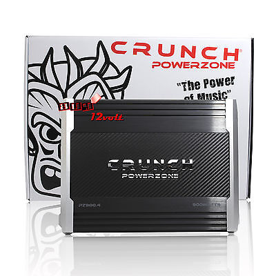 Crunch PZ900.4 900W Max PowerZone Series 4-Channel Car Audio Amplifier