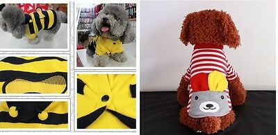 Pet Shirt Puppy Dog Cat Fashion Cute Warm Clothes Polo Sweater Halloween Costume