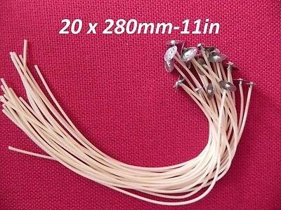 40 x 200mm-7.9in Long Pre Waxed Wicks For Candle Making with sustainer`s