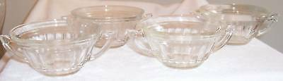 """FOUR (4) New Century Crystal 4 3/4"""" Cream Soup Bowls"""