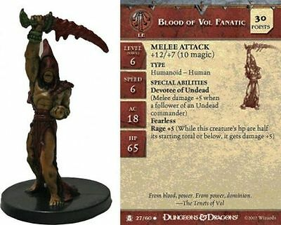 D&D Miniatures Desert of Desolation Blood of Vol Fanatic 27/60 (C)
