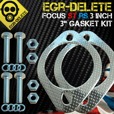 "FORD FOCUS RS MK2 / ST225 DECAT pipe GASKET & FITTING KIT 3"" inch flanges"