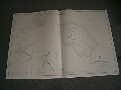 Vintage Admiralty Chart 997 SOUTH PACIFIC OCEAN - PENRHYN ISLAND 1934 edition