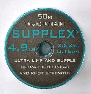 Drennan Supplex Hooklength/Rig Line 50m - All sizes Available