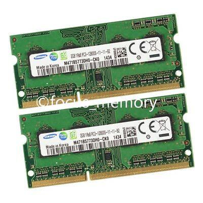 New Samsung 4GB 2GBx2 1Rx8 DDR3 PC3-12800 Laptop Memory 1600MHz 204pin SO-DIMM