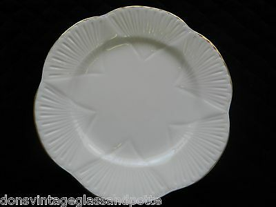 Shelley Bone White Regency Gold Trim  Bread  Plate