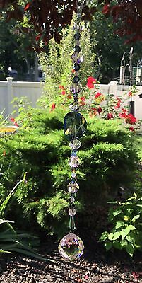 Healing Blue Pink Crystal Suncatcher/Prism W/Swarovski Elements Lead Ball USA