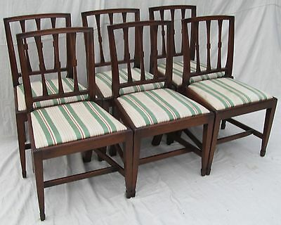 SET OF SIX FINE MAHOGANY GEROGIAN PERIOD EARLY 19TH CENTURY DINING CHAIRS