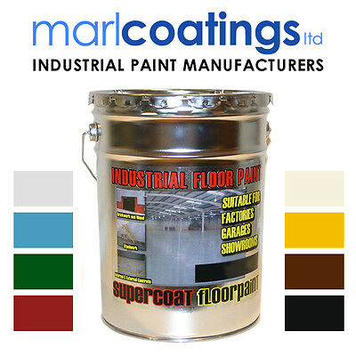 Supercoat Industrial,factory,showroom,warehouse,garage Floor Paint 5 Litres