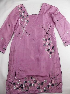 12-14 IMAG ladies purple indian pakistani traditional kameez tunic top new NWT