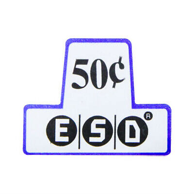 Label Insert $ .50 for ESD Coin Chutes