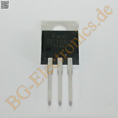 2 x TIC106D SILICON CONTROLLED RECTIFIER Inchange  TO-220 2pcs