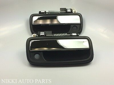 Set of 2 Left & Right Chrome Outside Door Handle for Toyota Tacoma Truck 95-04