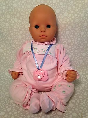 "1998 Max Zapf Creation Baby Doll W. Germany 17"" W Pacifier"