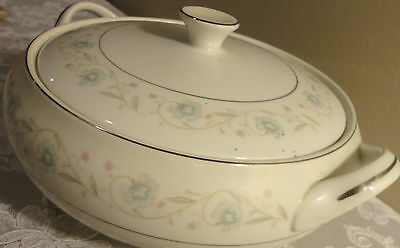 VINTAGE ENGLISH GARDEN # 1221 FINE CHINA JAPAN COVERED CASSEROLE SERVING BOWL