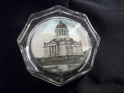 """VINTAGE 3"""" RARE DESSAU GERMANY PAPERWEIGHT 8 SIDED AS-IS"""