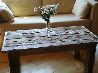 """Driftwood Coffee Table (42"""" x 22"""" Wide x 16"""" H) Whitewashed (New Pictures soon)"""