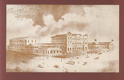 SINGAPORE Raffles Hotel advertising PPC c1910s?