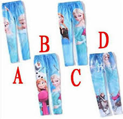 FROZEN Leggings for Girls various sizes Anna Elsa Olaf Kristoff Sven