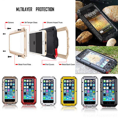 For  iPhone XS MAX X Samsung Note 8 Extreme Armor Shockproof Aluminum Cover Case