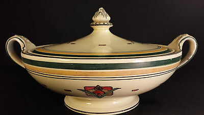 FINE BURLEIGH WARE ART DECO SERVING TUREEN  ABSTRACT PATTERN