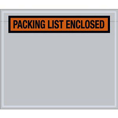 "500 Packing List Envelopes 4-1/2"" x 5-1/2"" Clear Packing List Enclosed Pouches"