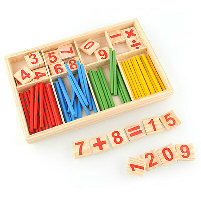 Kids Child Wooden Numbers Counting Sticks Early Learning Educational Puzzle Toy
