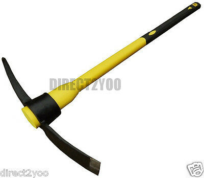 5lb Pick Axe Mattock Steel Head +Fibreglass Handle shaft 90cm 36in Heavy Duty