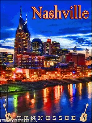 Nashville Tennessee United States of America Travel Advertisement Art Poster