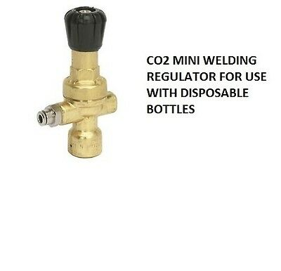 Disposable mini gas bottle regulator Argon and CO2 for mig welding